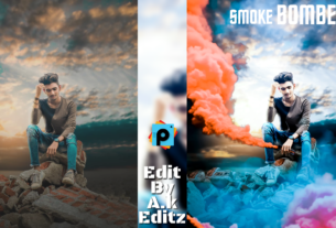 Picsart smoke bomer editing