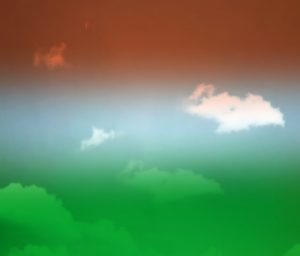 India flag color effect imge